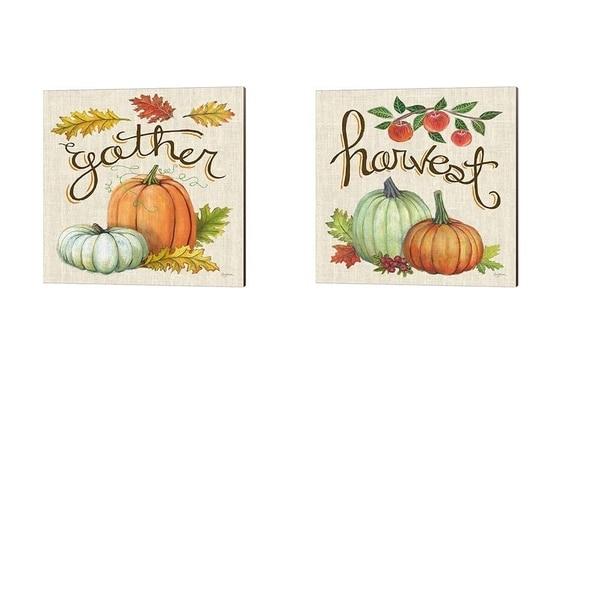 Mary Urban 'Autumn Harvest Linen' Canvas Art (Set of 2)
