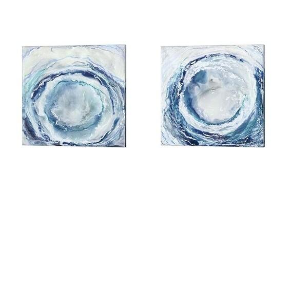 Renee Stramel 'Ocean Eye' Canvas Art (Set of 2)
