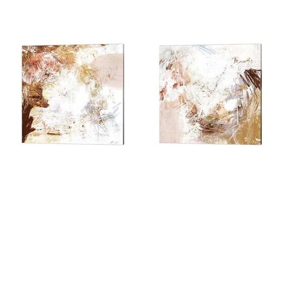 Victoria Borges 'Blush & Umber' Canvas Art (Set of 2)