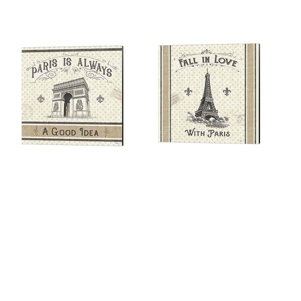 Pela Studio 'Paris Farmhouse' Canvas Art (Set of 2)