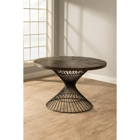 Kanister Round Dining Table - Pewter