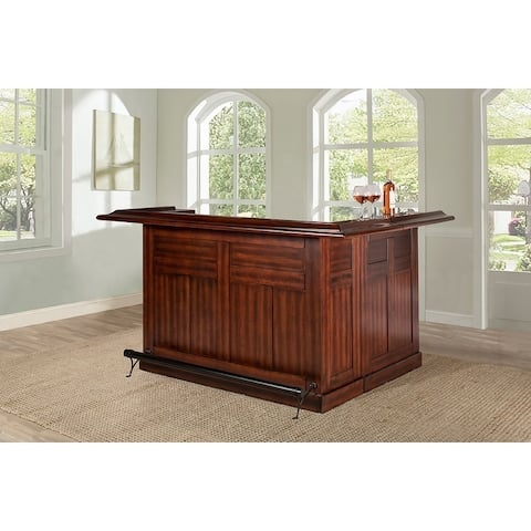 Classic Large Brown Cherry Bar with Side Bar