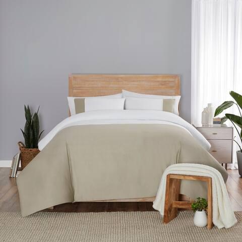 Vue Elements Kinsley Solid Colorblock 3 Piece Comforter Set