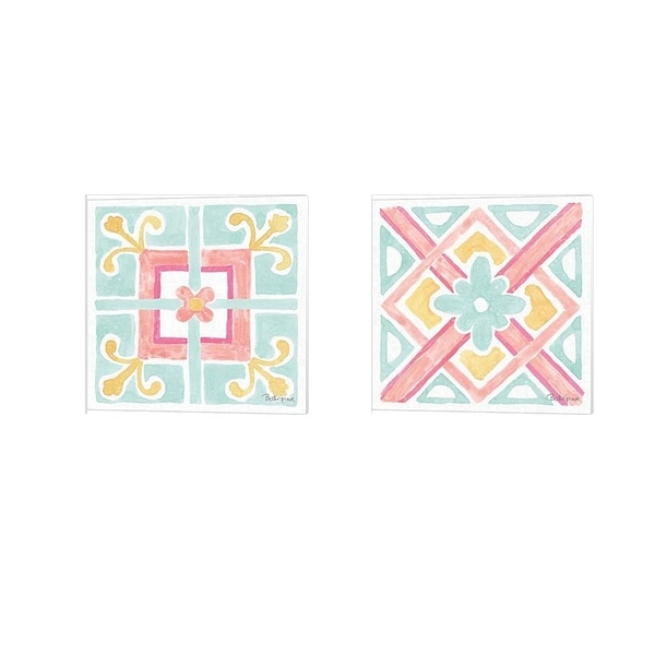 Beth Grove 'Watercolorful Turquoise' Canvas Art (Set of 2)