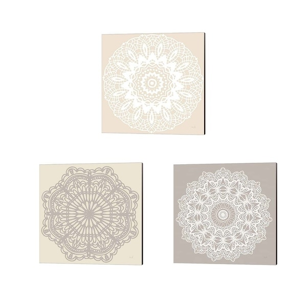 Moira Hershey 'Contemporary Lace Neutral' Canvas Art (Set of 3)