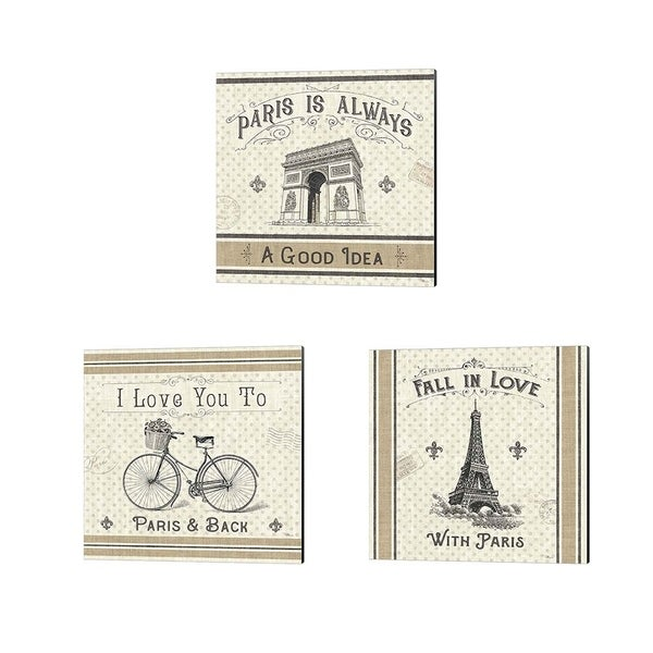 Pela Studio 'Paris Farmhouse' Canvas Art (Set of 3)
