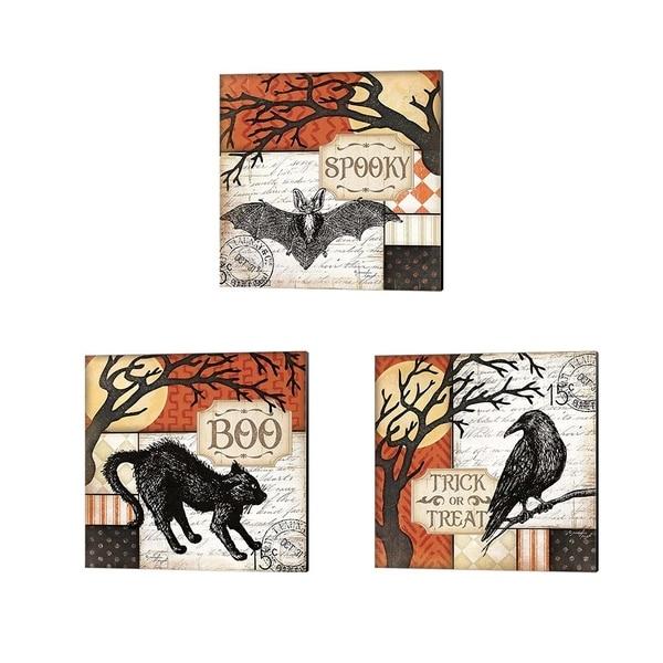 Jennifer Pugh 'Trick or Treat, Boo & Spooky' Canvas Art (Set of 3)