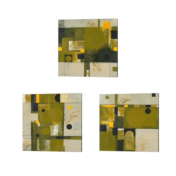 Deborah Colter 'Shady Lane' Canvas Art (Set of 3)