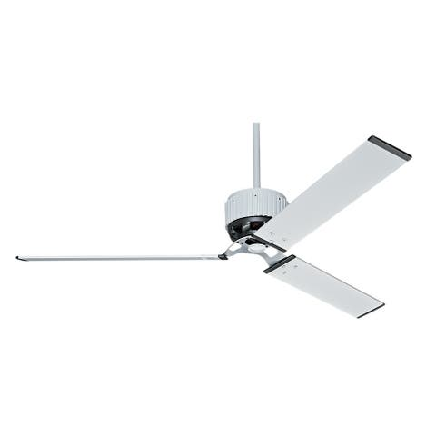 "Hunter 72"" HFC Outdoor Ceiling Fan with Wall Control, Damp Rated - Fresh White"
