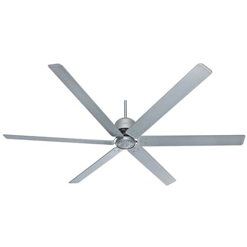 """Hunter 96"""" HFC Damp Rated Ceiling Fan with Wall Control - Satin Metal"""