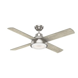 """Casablanca 54"""" Levitt Ceiling Fan with LED Light Kit and Wall Control - Brushed Nickel"""