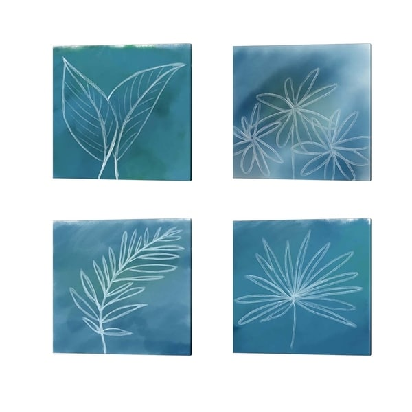 Anne Seay 'Tropical' Canvas Art (Set of 4)