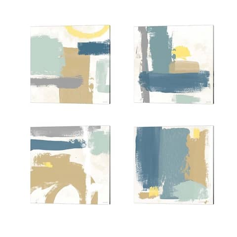 Linda Woods 'Tranquil' Canvas Art (Set of 4)