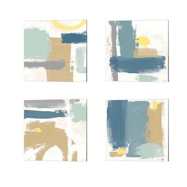 Linda Woods 'Tranquil' Canvas Art (Set of 4)