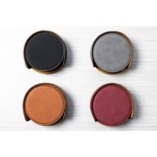 Link to Caddy Bay Collection Vegan Leather Coaster - 4 Colors Similar Items in Glasses & Barware