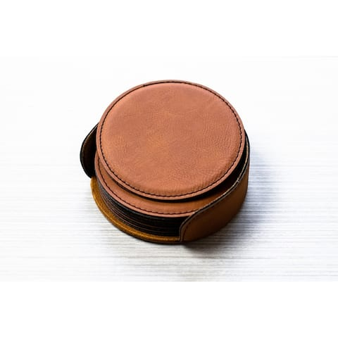 Caddy Bay Collection Vegan Leather Coaster - 4 Colors