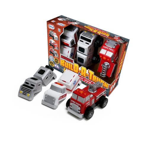 Magnetic Build-A-Truck: Fire and Rescue