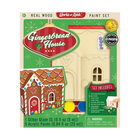 Works of Ahhh... Wood Painting Kit - Gingerbread House