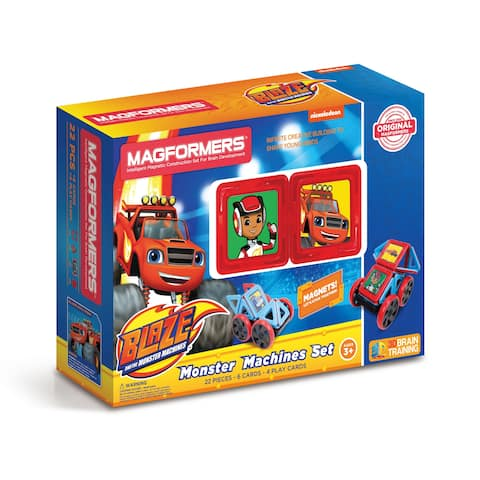 Magformers Blaze and the Monster Machines Set: 22 Pcs