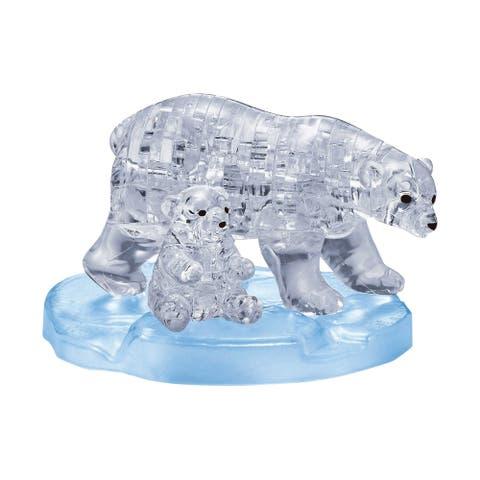 3D Crystal Puzzle - Polar Bear and Baby: 40 Pcs