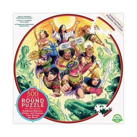 Goddesses and Warriors Round Puzzle: 500 Pcs