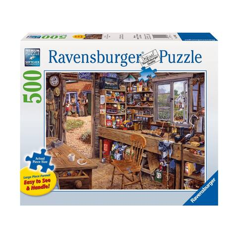 Michael Herring - Dad's Shed Large Piece Format Puzzle: 500 Pcs