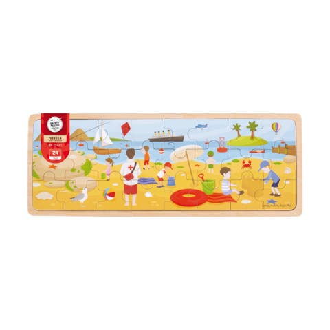 Wooden At the Seaside Tray Puzzle: 24 Pcs
