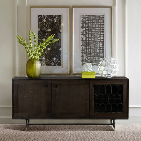 Gatsby Oak and Metal Buffet Cabinet - N/A