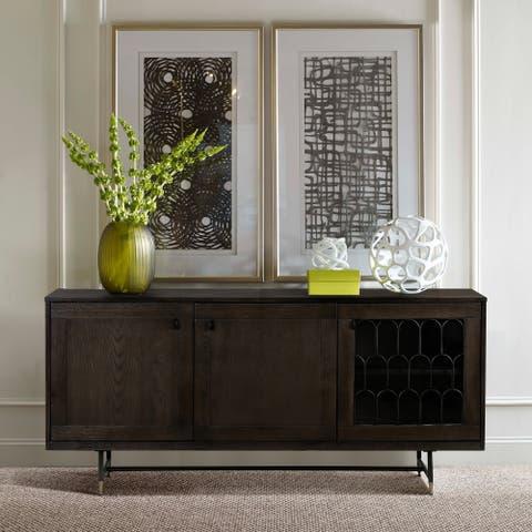 Gatsby Oak and Metal Buffet Cabinet - N/A
