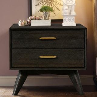 Carson Carrington Junsternas Acacia Mid-century 2-drawer Night Stand