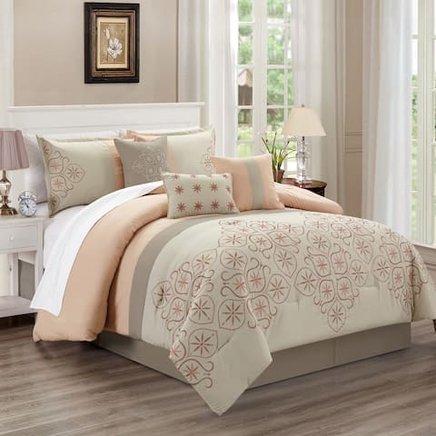 Una 7 piece comforter set