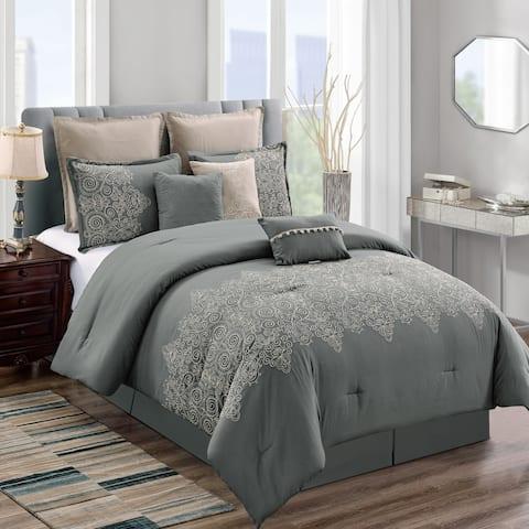Elight Home Polyester Microfiber 8pc Comforter Set