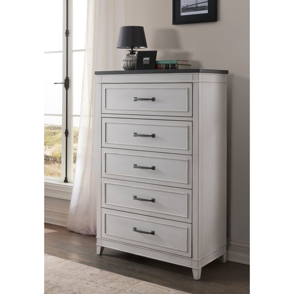 The Gray Barn Happy Horse White and Grey 5-drawer Chest