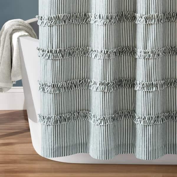 Shop Lush Decor Vintage Stripe Yarn Dyed Cotton Shower