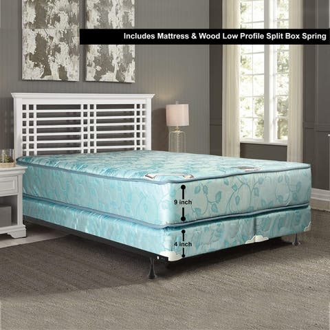 9-Inch Medium Firm Innerspring Mattress and Box Spring Set