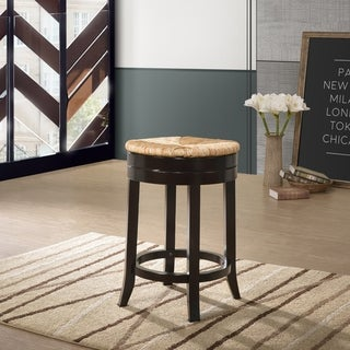 Link to The Curated Nomad Aragon Rush Seat Swivel 24-inch Counter Stool - N/A Similar Items in Dining Room & Bar Furniture