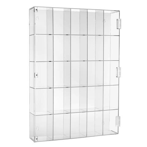 Acrylic Display Organizer Box with 25 Compartments - N/A