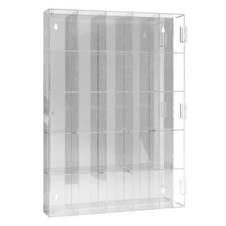 Ikee Design Acrylic Display Box with Mirrored Back & 25 Compartments