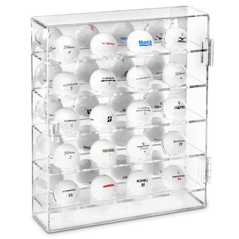 Acrylic Display Box with Mirrored Back & 25 Compartments