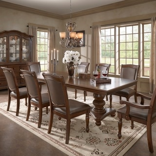 Constantinople Double Pedestal Dining Set with Extending Table by iNSPIRE Q Classic
