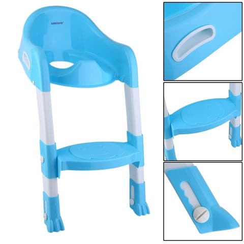 Baby Kids Infant Toddler Potty Training Toilet Trainer Safety Seat Chair Step Ladder Non-Slip Folding Seat