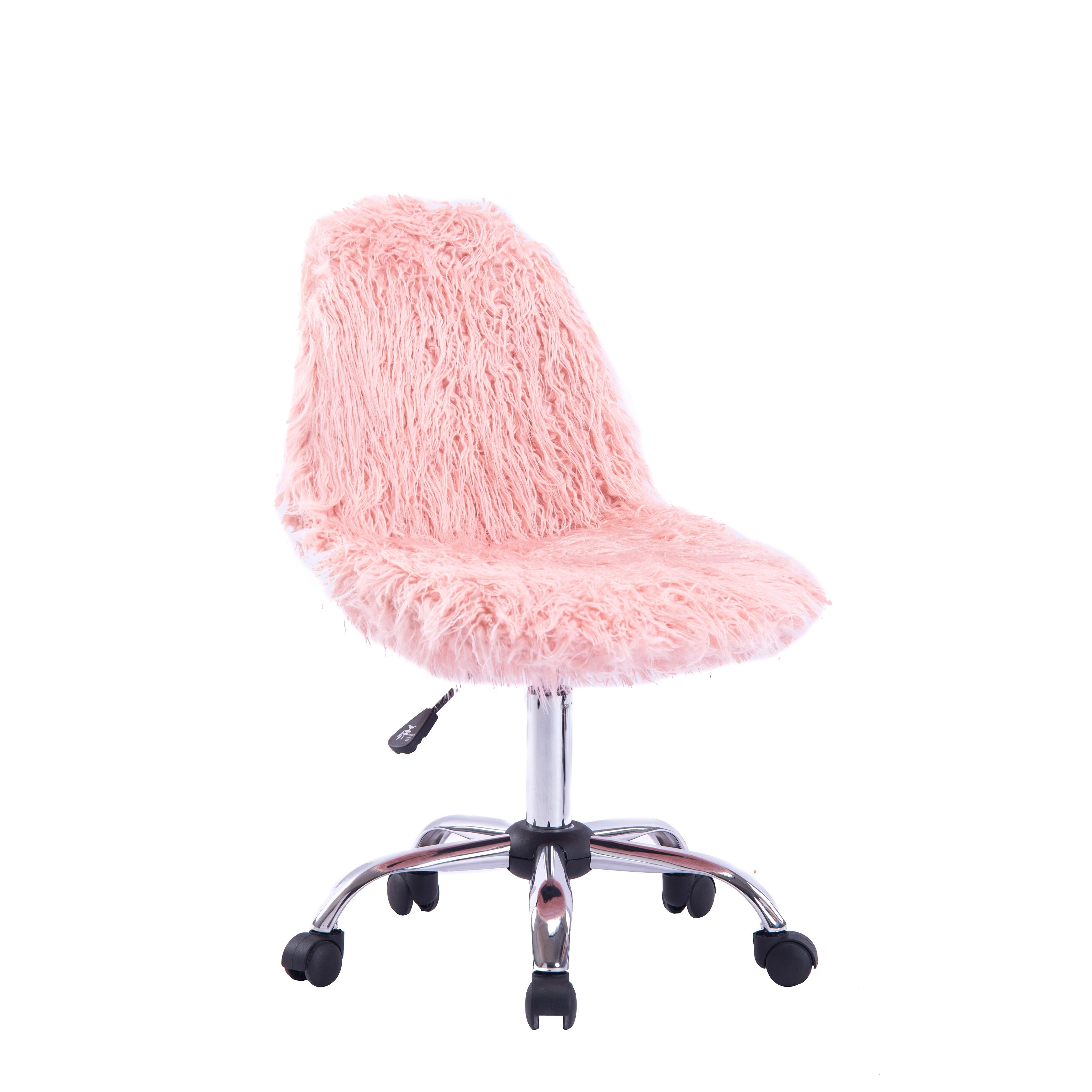 Shop Porthos Home Patia Faux Fur Chair With Adjustable Height 360 Swivel Overstock 28718207