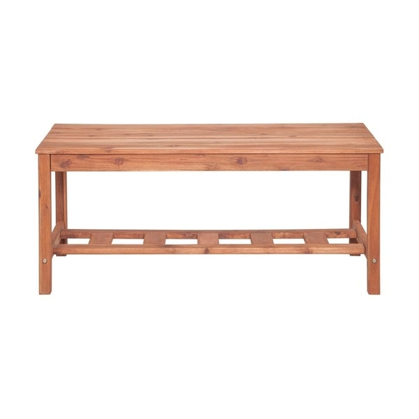 Office Accents Acacia Wood Ladder Base Outdoor Coffee Table - Brown