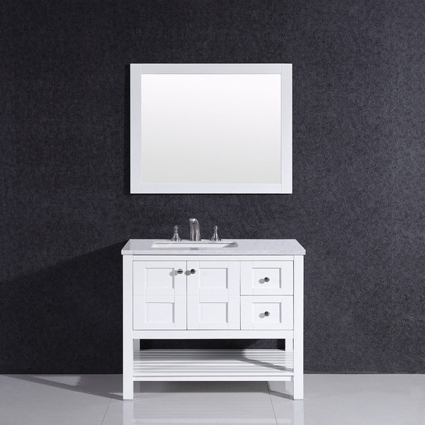 Eviva Glamor 36 in. White Bathroom Vanity