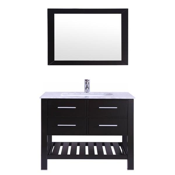 """Eviva Natalie F. 30"""" Espresso Bathroom Vanity"""