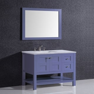 Eviva Glamor 36 in. Grey Bathroom Vanity