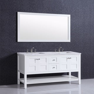 Eviva Glamor 60 in. White Bathroom Vanity