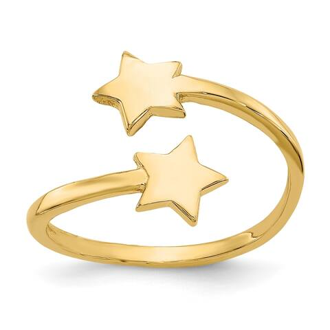 Versil 14 Karat Yellow Gold Star Toe Ring