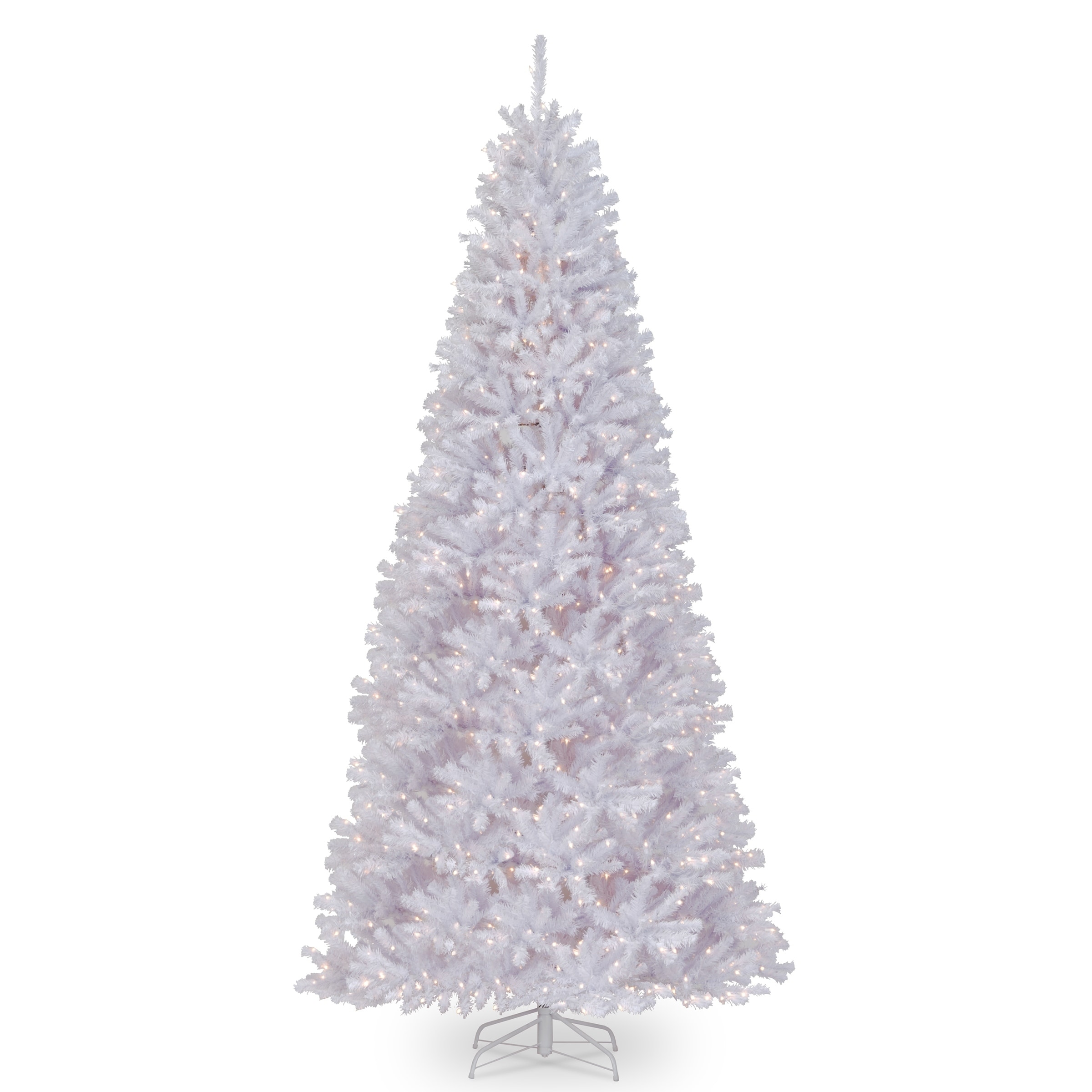 White Christmas Tree With Lights.12 Ft North Valley R White Spruce Tree With Clear Lights