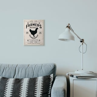 Stupell Industries Farmers Market Distressed Plank Wood Look Wall Plaque Art Proudly Made in USA